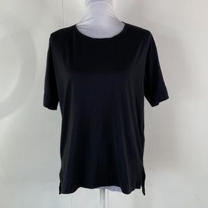 Everlane Womens Black quarter sleeve supima cotton